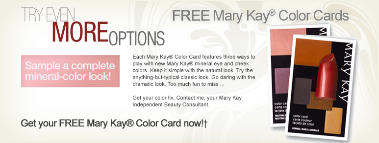 Free Sample: Mary Kay Color Card | Her Savings