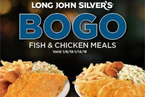 photo regarding Long John Silver's Printable Coupons named Extended John Silvers: BOGO Free of charge Evening meal Coupon Her Discounts